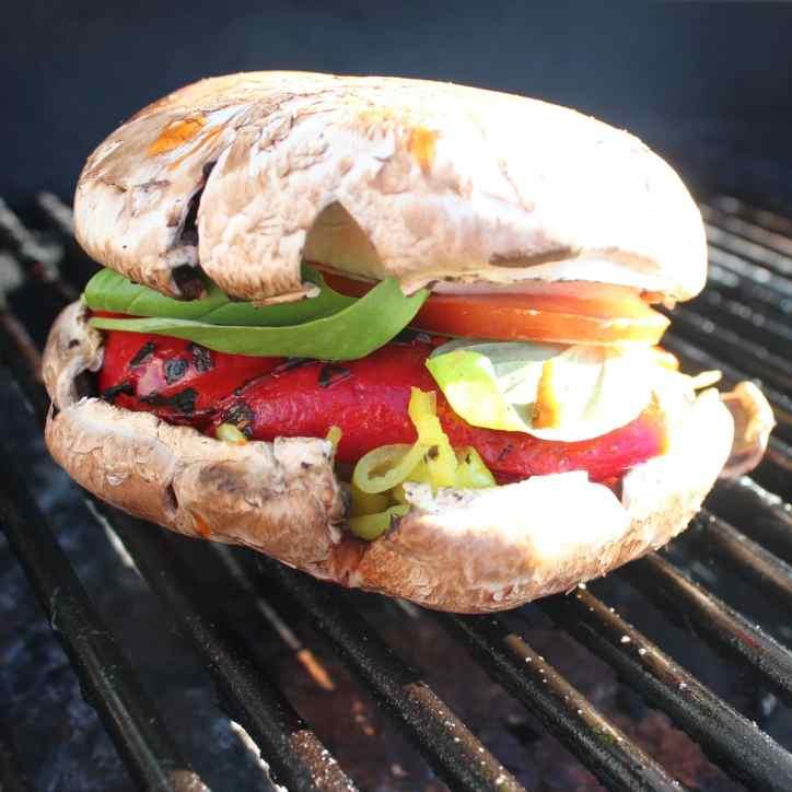 Grilled Portobello Caprese Sandwich
