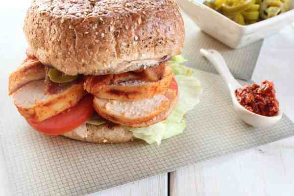 Spicy Chipotle Chicken BLT Sandwich