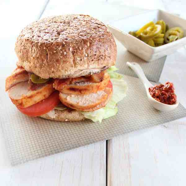 Spicy Chipotle Chicken BLT Sandwich