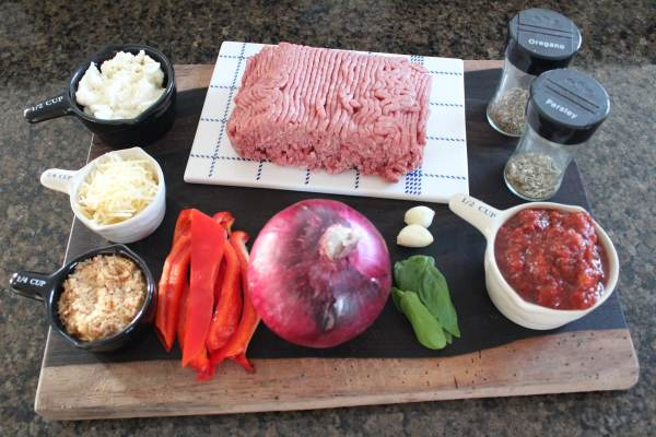 Italian Meatloaf Ingredients
