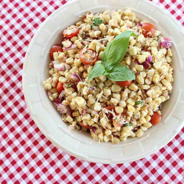Tomato Basil Corn Salad
