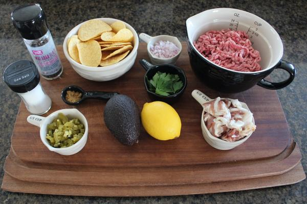 Mini Beef and Bacon Taco Ingredients