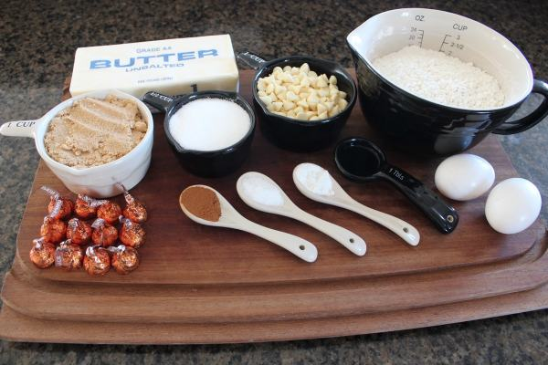 White Chocolate Chip Pumpkin Spice Cookie Ingredients