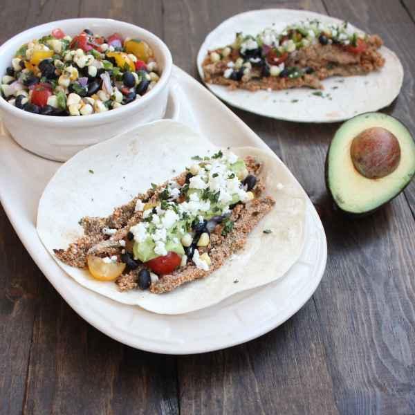 Crispy Cactus Tacos with Black Bean Corn Relish