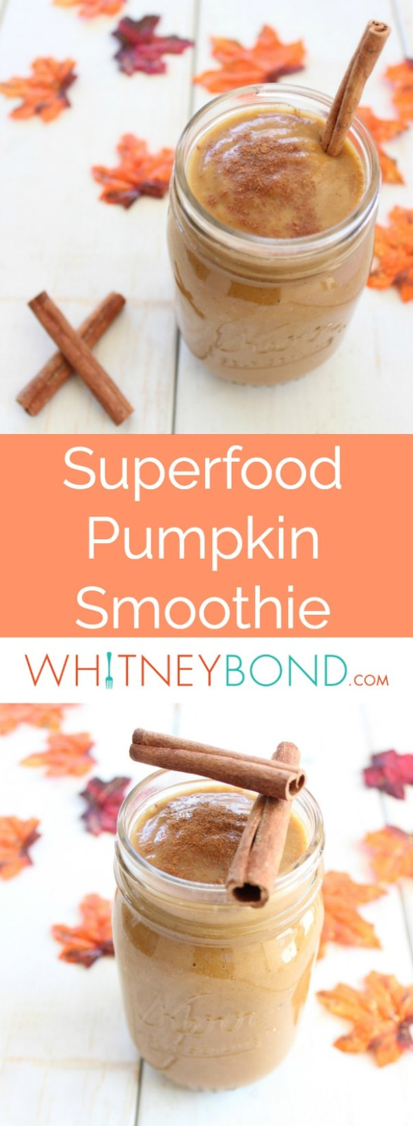 The perfect way to welcome in the fall season, this superfood pumpkin smoothie is both healthy and delicious, rich in potassium and vitamins, and gluten free and vegan!