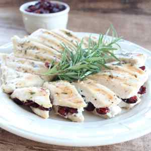 Cranberry Goat Cheese Stuffed Chicken