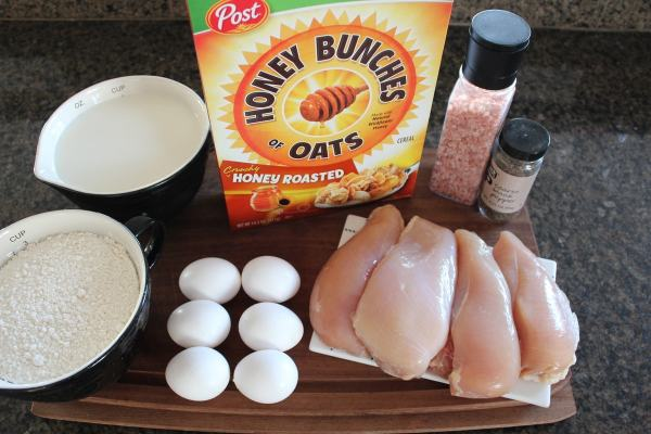 Honey Bunches of Oats Crusted Chicken Strips Ingredients