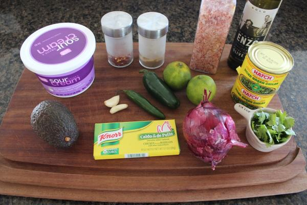 Creamy Green Chili Sauce Ingredients