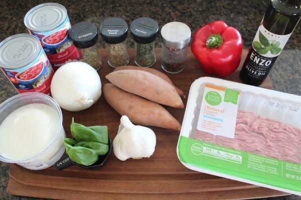 Italian Turkey Sweet Potato Casserole Ingredients