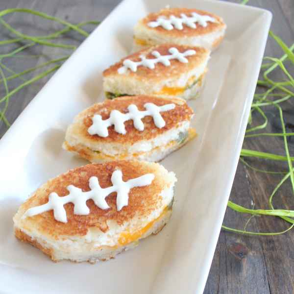 Mini Football Sandwiches