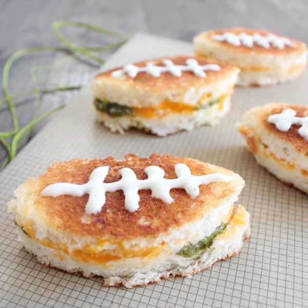 Football Grilled Cheese Sandwiches