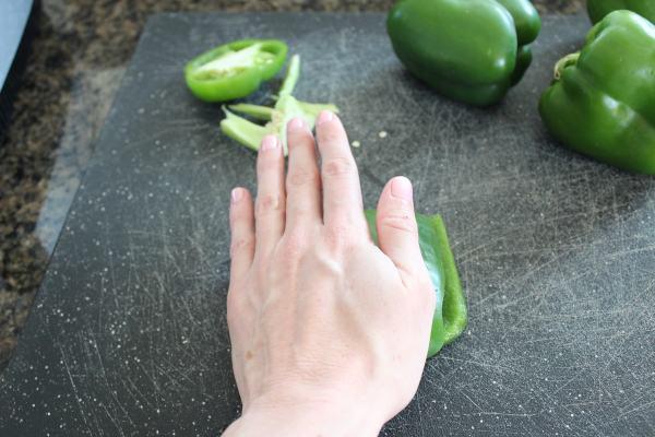 Green Bell Pepper Shamrocks