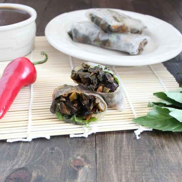 Stir Fried Vegetable Spring Rolls