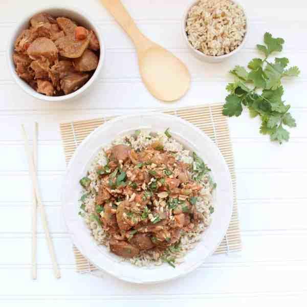 Massaman Curry Crock Pot Chicken