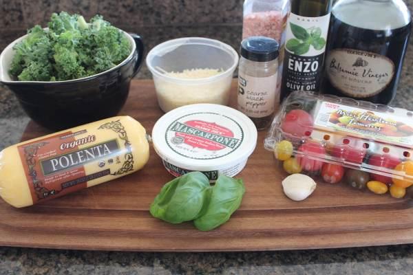 Kale Tomato Polenta Skillet Ingredients