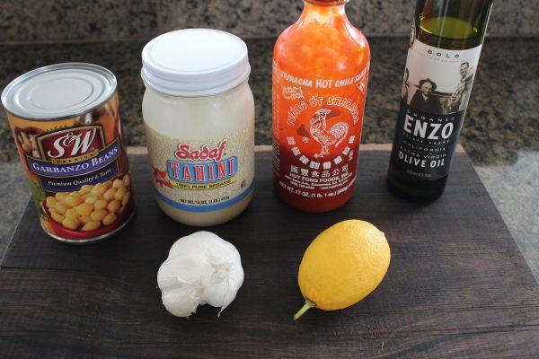 Sriracha Hummus Ingredients