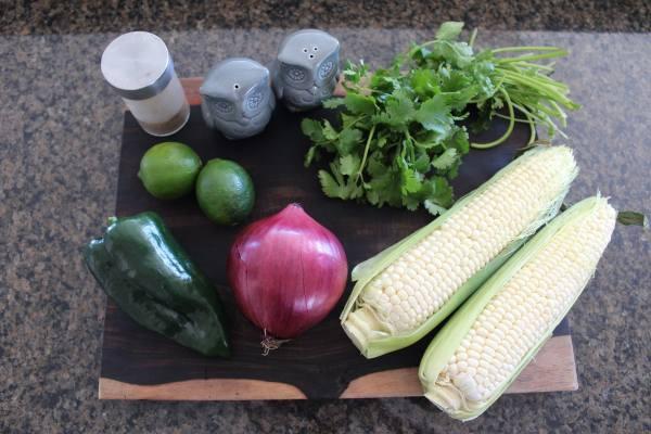 Roasted Poblano Corn Salsa Ingredients
