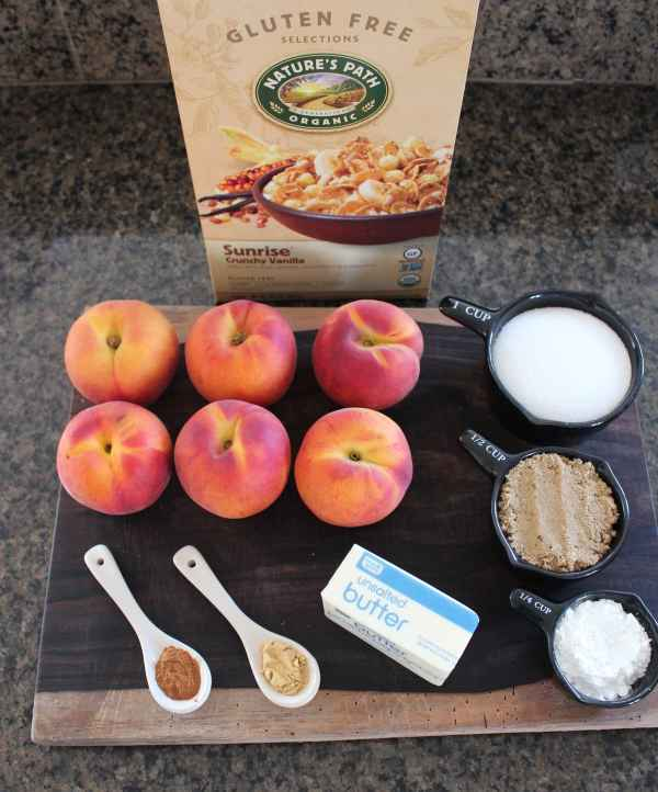 Gluten Free Peach Pie Ingredients