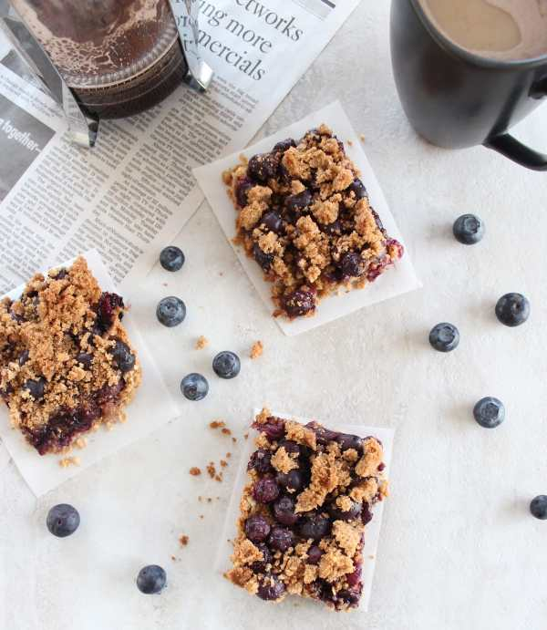 Gluten Free Breakfast Blueberry Oat Bars