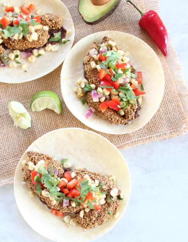 Crispy Avocado Vegetarian Tacos