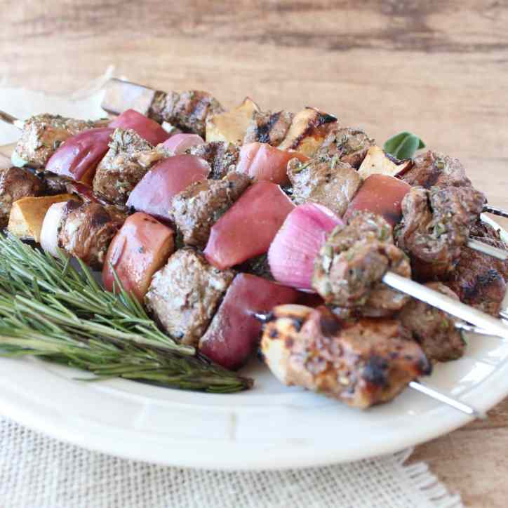 Grilled Pork Tenderloin Skewers