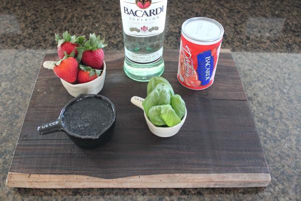 Basil Berry Daiquiri Ingredients