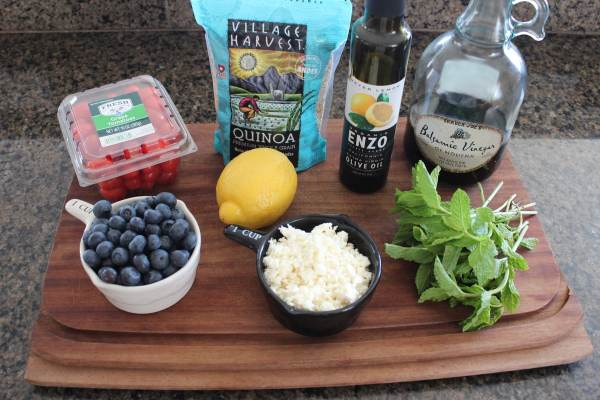 Roasted Tomato Blueberry Quinoa Salad Ingredients