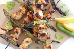 Roasted Jalapeño Honey Chicken Skewers