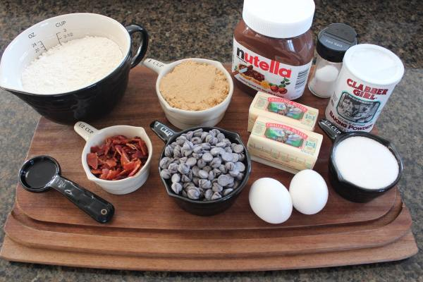 Nutella Bacon Chocolate Chip Cookie Ingredients