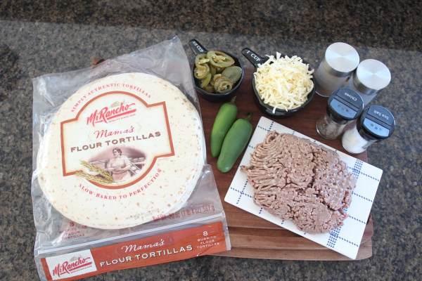 Tortilla Wrapped Jalapeño Cheeseburger Ingredients