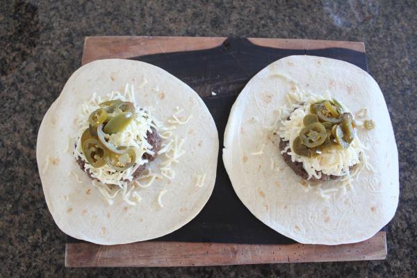 Tortilla Wrapped Jalapeño Cheeseburger Recipe