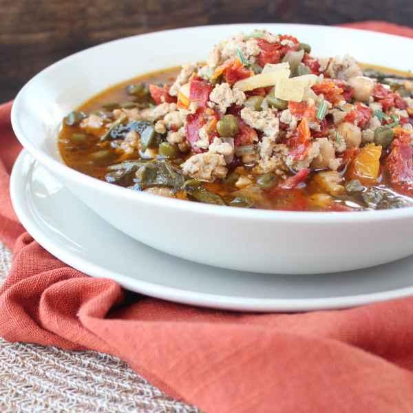 Healthy Greek Turkey Soup Recipe