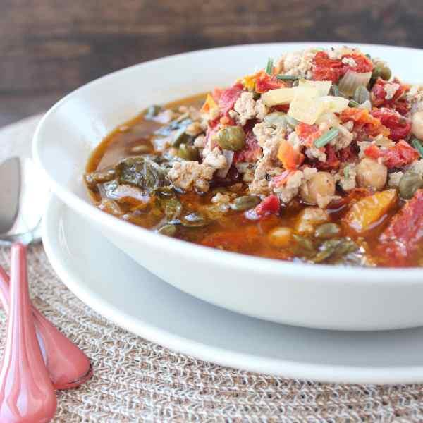 Greek Spinach Turkey Soup