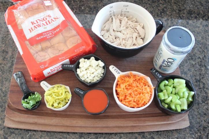 Buffalo Chicken Salad Sliders Ingredients