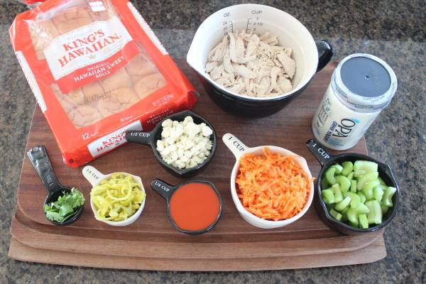 Buffalo Chicken Salad Sliders Ingredients