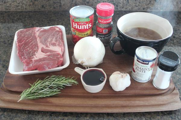 Slow Cooked Beef Ragu Ingredients