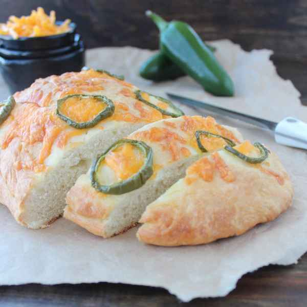 Jalapeño Cheddar Focaccia Bread Recipe