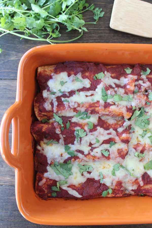 Mushroom Squash Enchiladas