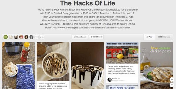 Fresh & Easy The Hacks Of Life Pinterest Board