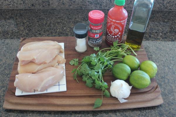 Sriracha Lime Chicken Ingredients