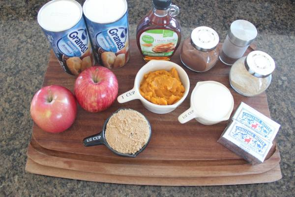 Pumpkin Apple Monkey Bread Ingredients