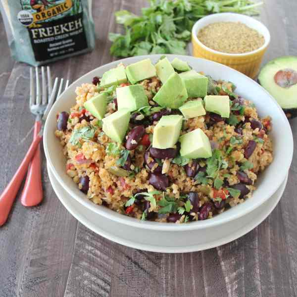 Vegan Mexican Freekeh Recipe
