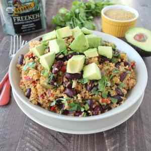 One Pot Vegan Mexican Freekeh