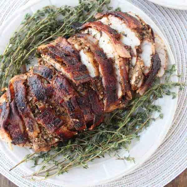 Bacon Wrapped Turkey Breast