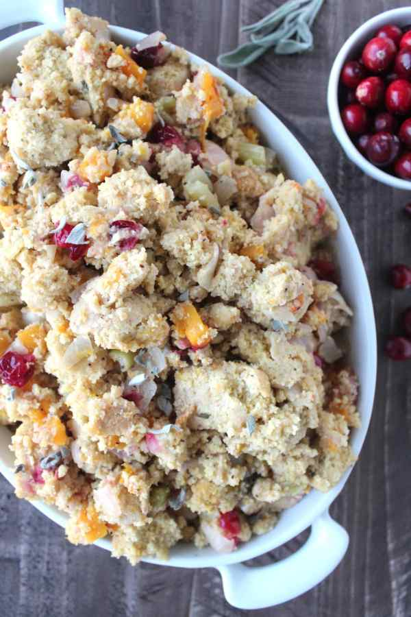 Slow Cooked Gluten Free Cornbread Stuffing