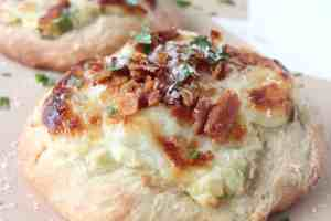 Mashed Potato & Bacon Pizza