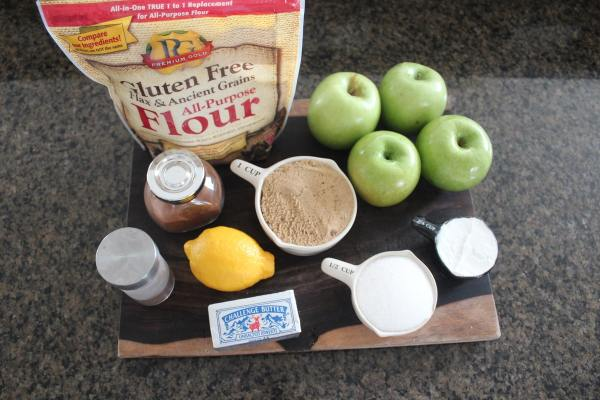 Gluten Free Apple Crumble Ingredients