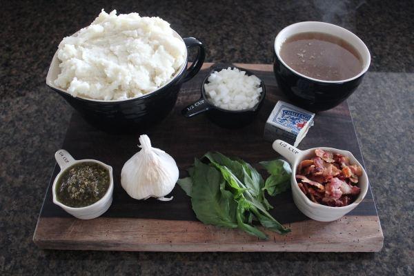 Garlic Basil Mashed Potato Soup Ingredients