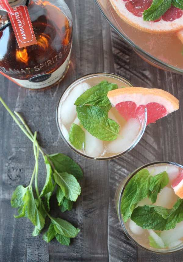 Sparkling Spiced Rum Punch