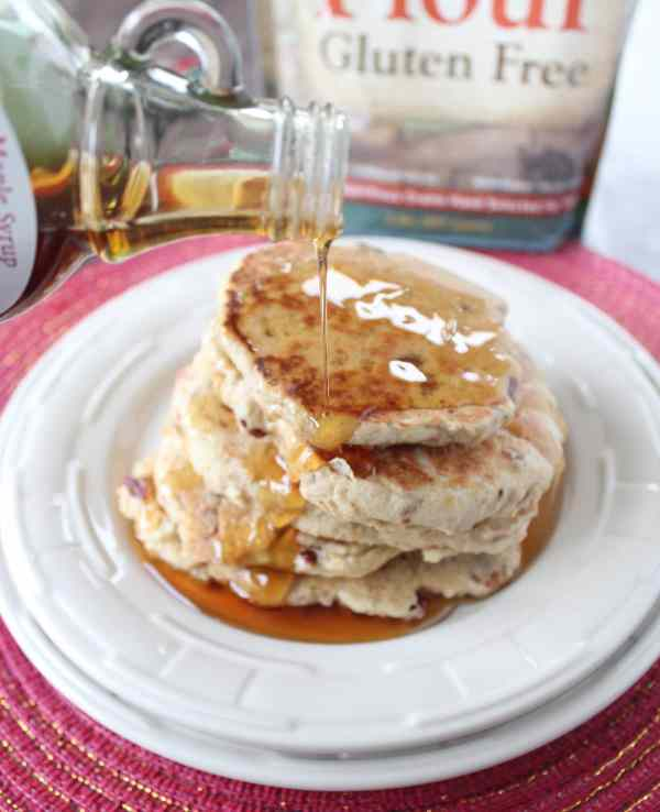 Maple Bacon Gluten Free Pancakes